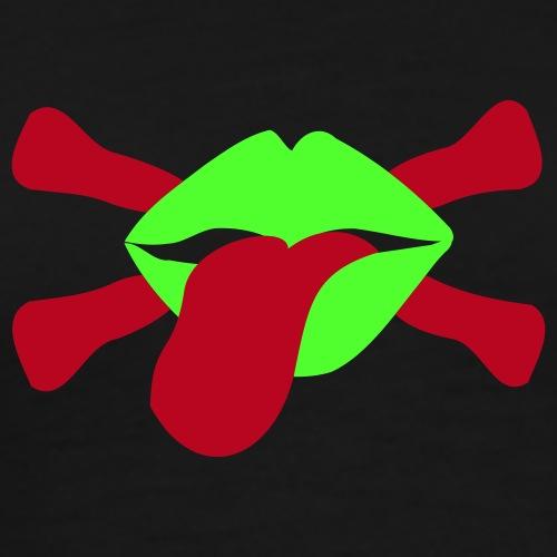 skullstyle lippen - Männer Premium T-Shirt