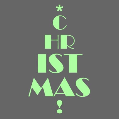 Christmas Letter Tree - Light Green Edition - Männer Premium T-Shirt