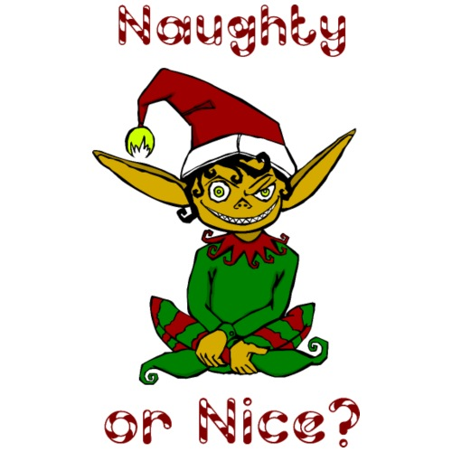 Naughty or Nice Christmas Elf - Men's Premium T-Shirt