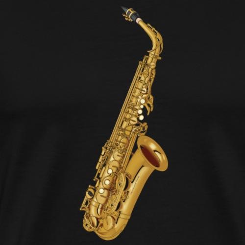 Saxofon in Gold - Männer Premium T-Shirt