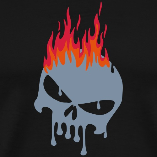 tete de mort fondue flamme - T-shirt Premium Homme
