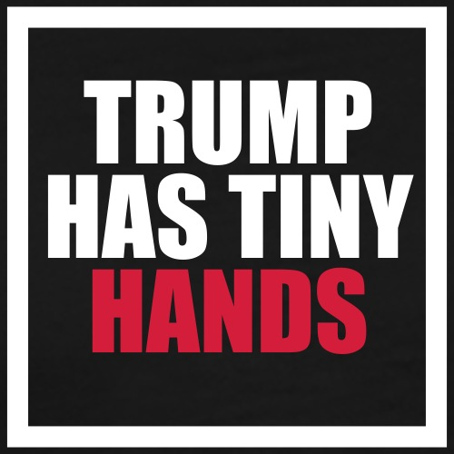 Trump has tiny hands - Men's Premium T-Shirt