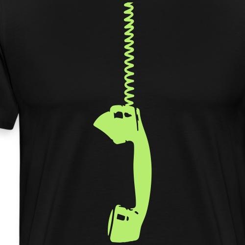 Vintage phone talk Retro Telefonhörer Anruf antik - Men's Premium T-Shirt