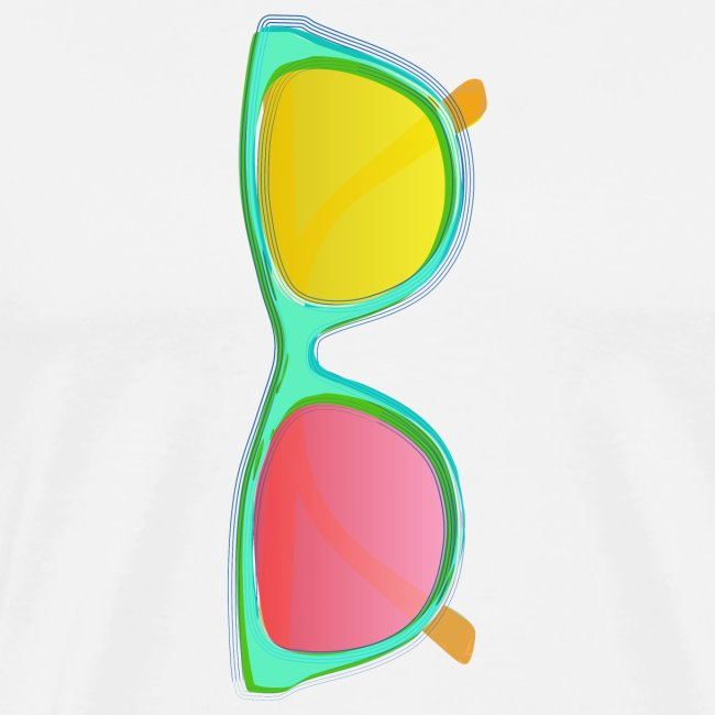 Vintage Retro Glasses Pop Art Style
