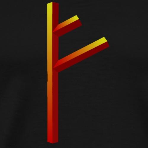 Rune Fehu - Männer Premium T-Shirt