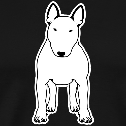 BULLTERRIER FRONT - Männer Premium T-Shirt