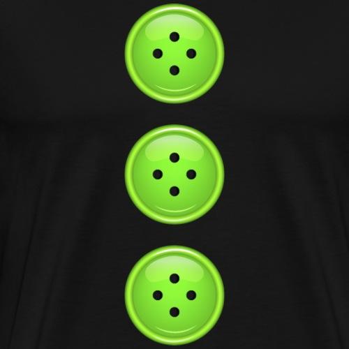3 grüne Knöpfe Knopf Buttons modische Accessoires - Men's Premium T-Shirt