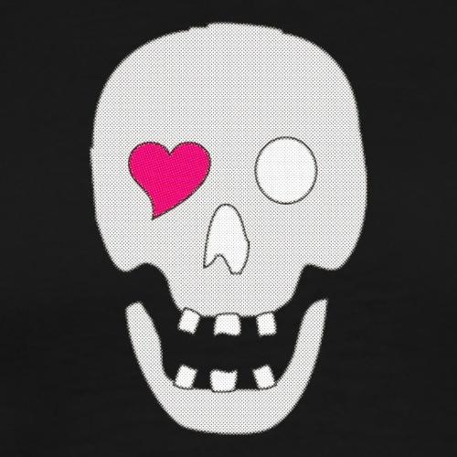 Dödskalle, pixlad - Premium-T-shirt herr