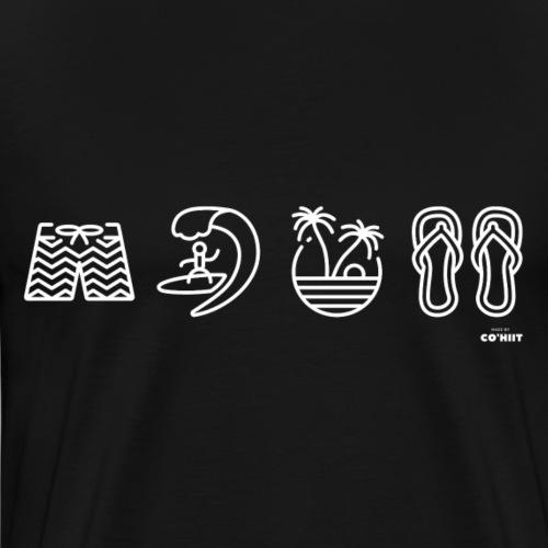 Surfeur (blanc) - T-shirt Premium Homme