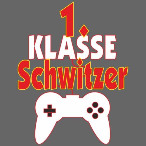 1. Klasse Schwitzer Gamer Schüler - Männer Premium T-Shirt