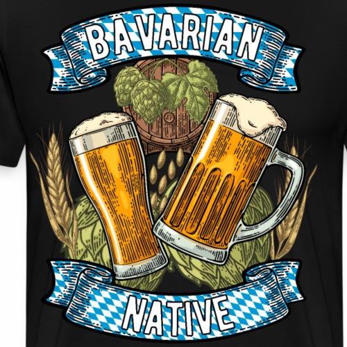 Bavarian Native - Männer Premium T-Shirt