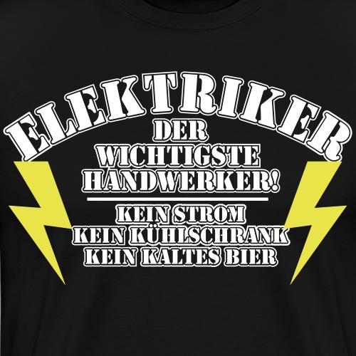 Bester Elektriker Strom Baustelle Handwerker - Männer Premium T-Shirt