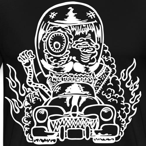 Hot Rod Monster (Motivfarbe änderbar!) - Männer Premium T-Shirt