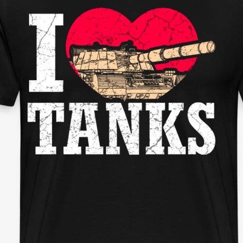 Panzerdivision Krieg Militär Geschenkidee Veterane - Männer Premium T-Shirt