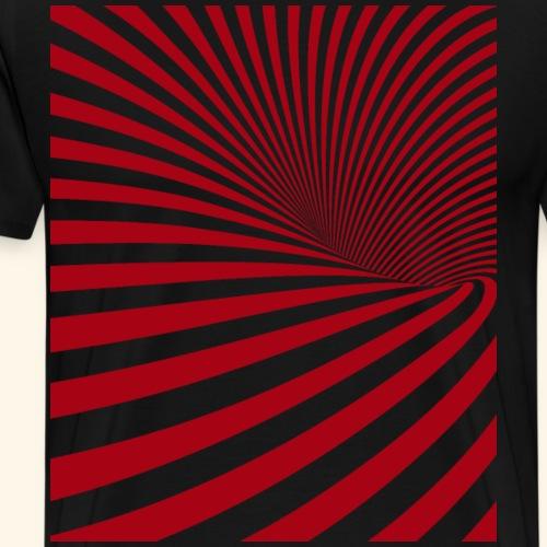 Vortex Roter Strudel - Männer Premium T-Shirt