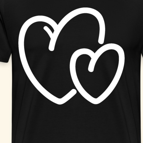Zwei Herzen iebespaar (Groß)Eltern-Kinder-Enkel - Männer Premium T-Shirt