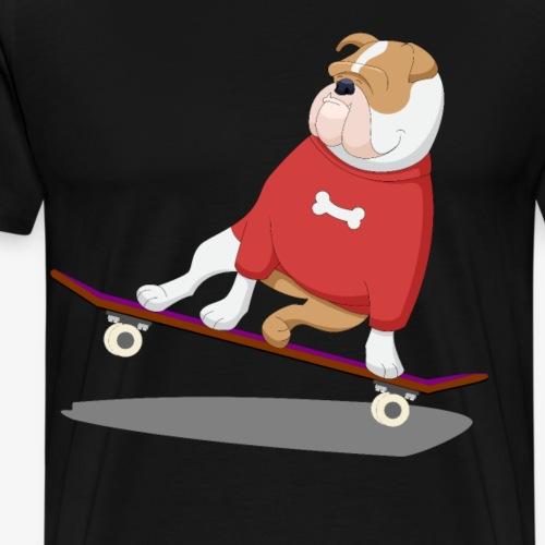 französische Bulldogge Skateboard Hund Puppie - Männer Premium T-Shirt