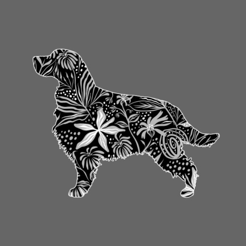 Flower English Springer - Miesten premium t-paita