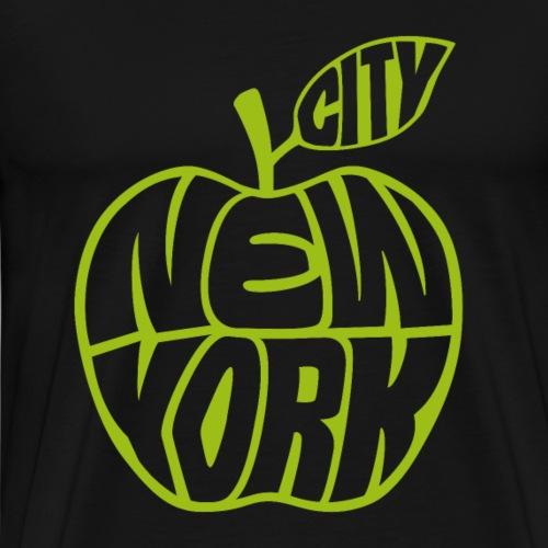 Big Apple grün New York City USA Souvenir - Männer Premium T-Shirt