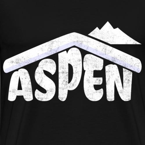 Aspen Colorado Souvenir Rocky Mountains Schifahren - Männer Premium T-Shirt