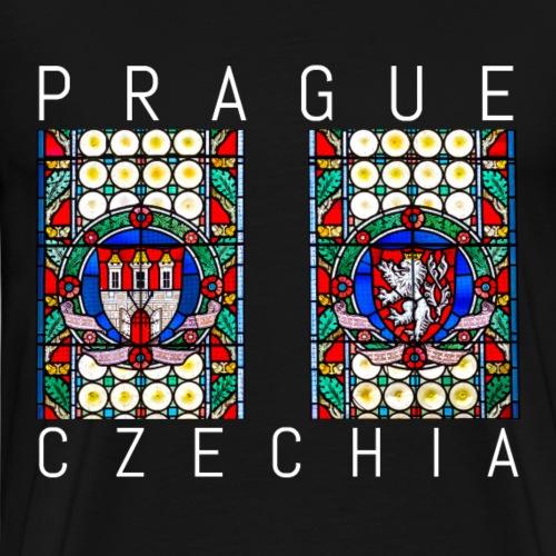 Prag berühmte Prager Kirchenfenster Souvenir - Männer Premium T-Shirt