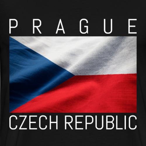 Prag schöne Flagge der Tschechischen Republik - Männer Premium T-Shirt