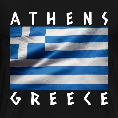 Flagge von Griechenland Athen Souvenir - Männer Premium T-Shirt