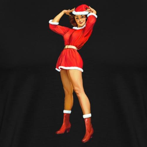 Vintage pin up girl - Happy Holidays! - Maglietta Premium da uomo