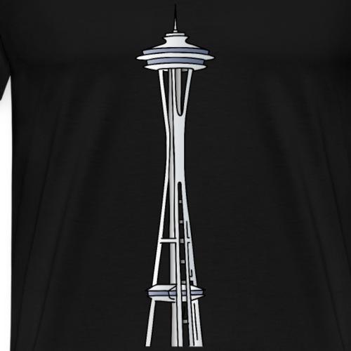 Space Needle in Seattle - Männer Premium T-Shirt