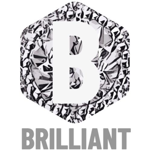 B brilliant grey - Mannen Premium T-shirt