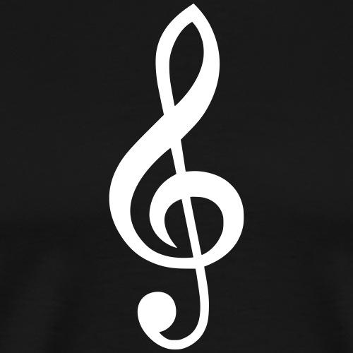Notenschlüssel Symbol Notenschlüßel Zeichen Musik - Männer Premium T-Shirt