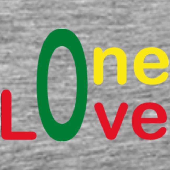 One love 01 Vert jaune rouge - rastafarie