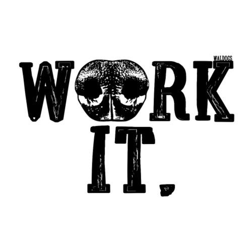 Nose Work It - Miesten premium t-paita