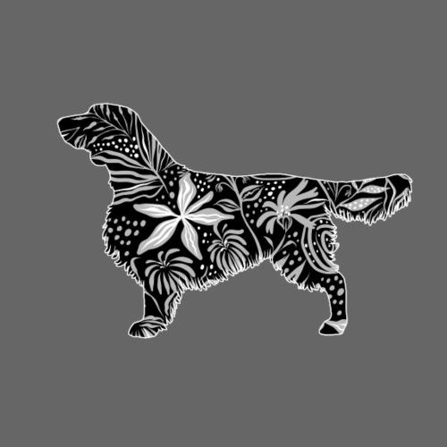 Flower Wales Springer - Miesten premium t-paita