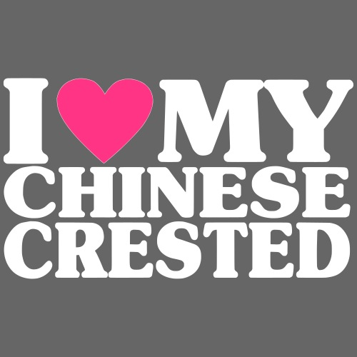 iheartmychinesecrested - Miesten premium t-paita