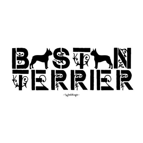 bostonterrierflow2 - Miesten premium t-paita
