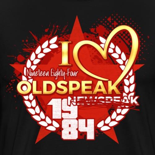 J'aime oldspeak pas newspeak - T-shirt Premium Homme