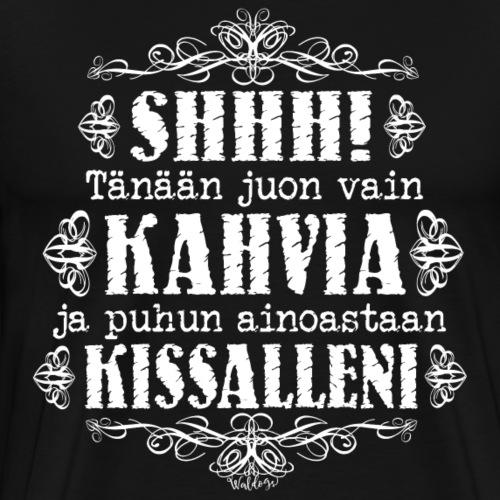 Kahvi Kissa I - Miesten premium t-paita