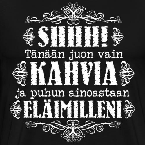Kahvi Eläimet II - Miesten premium t-paita