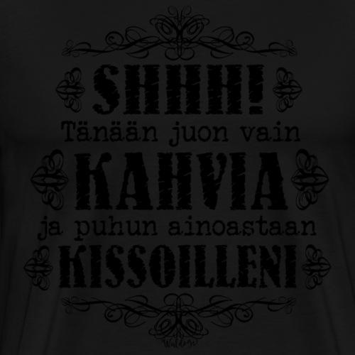 Kahvi Kissat II - Miesten premium t-paita