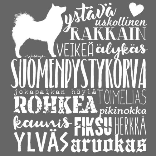 sanasuomenpystykorva - Miesten premium t-paita