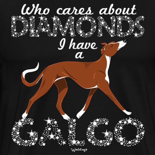 Galgo Diamonds 5 - Men's Premium T-Shirt