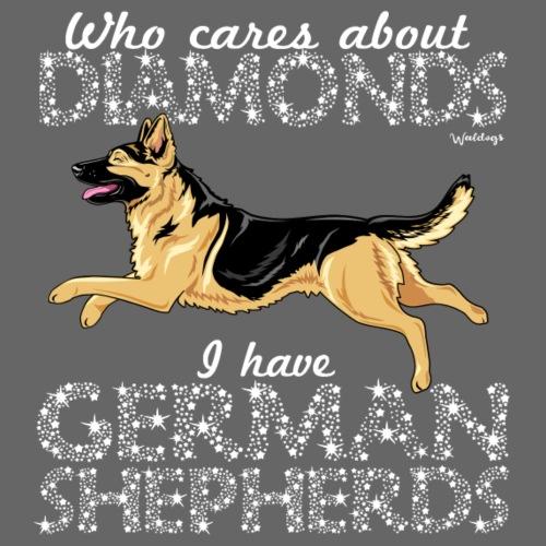 German Shepherd Diamonds5 - Miesten premium t-paita