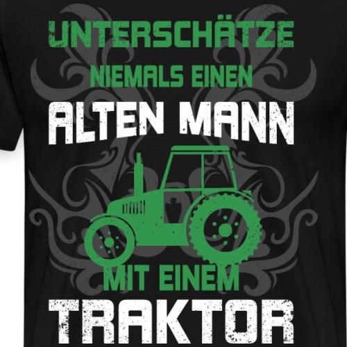 lustiger Traktor Spruch Bauer Landwirt Shirt Gesch - Männer Premium T-Shirt