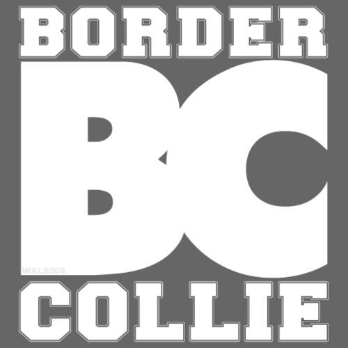 Border BC Collie Text - Miesten premium t-paita