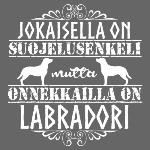 Labradorinnoutaja Enkelini3 - Miesten premium t-paita