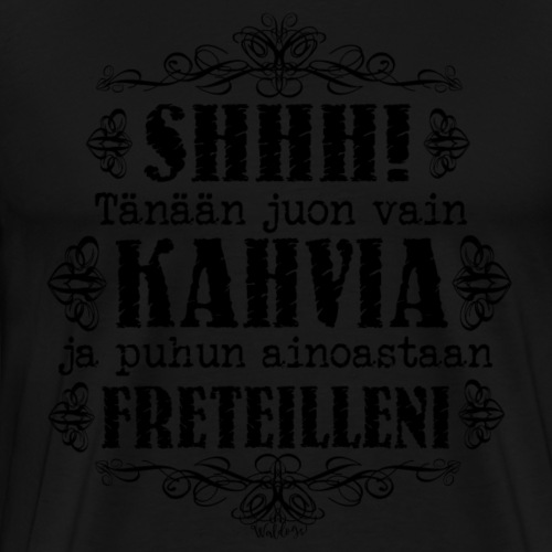 Kahvi Fretti II - Miesten premium t-paita