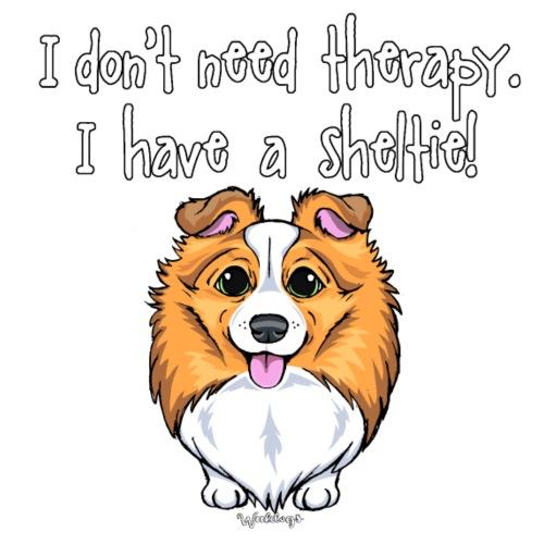 Sheltie Dog Therapy 2 - Miesten premium t-paita