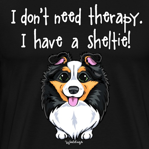 Sheltie Dog Therapy - Men's Premium T-Shirt