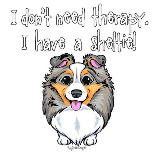 Sheltie Dog Therapy 3 - Miesten premium t-paita